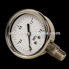 Severe service pressure gauge with screwed ring and sealed case