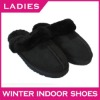 High quality warm woman slipper 2011 double face sheepskin slipper