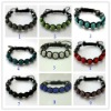 30% discount cheap shamballa 10 mm swarovski crystal bead macrame bracelet