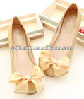 2012 latest colourful cute girl shoe candy flats fashion lady bowtie shoe