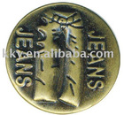 jeans button in anti-brass color