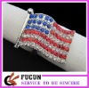 hot sale American flag rhinestone napkin rings