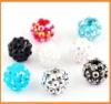wholesale Resin acrylic shamballa crystal beads