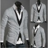 fake too pieces men's cardigan