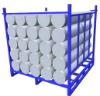 Foldable steel pallet container