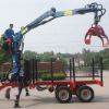 8ton timber grab trailer matching power 60-100hp with CE certificate