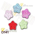 D141 pet collar DIY Star Shape Pink, Rose, Blue, Red, Green Color Pet Charm MOQ is 1000 pcs/item 1pc/opp bag Drop Shipping