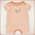 Baby Girls 100% Cotton Short Sleeve Stripe Romper