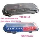 Big power led light mini bar with cigarette plug flash patterns selectable multi-voltage
