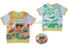 O-neck colorful T-shirt