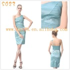 2011 Fashion Western Rffuled One Shoulder Taffeta Cocktail Dress S023