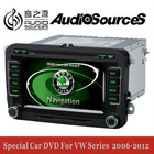"6.5"" 2 din car dvd player for VW and skoda 2005-2013 with built in canbus and IPAS OPS OBD and door status display function"