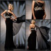 Famous Designer Hot Sale Elegant Chiffon Evening Dress