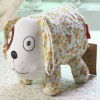 2012 fashion small yellow flower dog design cotton fabric toilet tissue cover