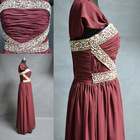 New Cap Straps Sequin Beaded Ruffle Bodice Long Chiffon Elegant Chiffon Evening Dresses Long