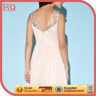 BBQ mesh embroidery chiffon bridesmaid dress