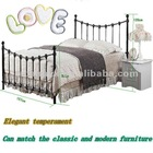 Modern bunk double size metal bed