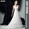 new arrival chiffon sash beaded bridal wedding gown HS1992