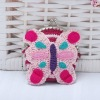 Knit Coin Purse-butterfly