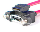 nternal to External SATA eSATA Cable Panel Mount 12 Inch