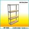 Rivet locked Four-shelf Powder coated Steel MDF Storage Rack