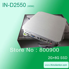 Intel D2550 dual core 1.86Ghz with HDMI 1080P HD 2048*1920 resolution thin clients for multi media