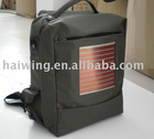 Solar charging backpack with flexible solar panel