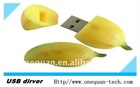 banana shape!! silicone USB flash drive