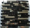 NEW ITEM--glass mosaic,glass tile mixed metal mosaic--YDA025