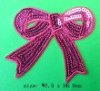 Sequin Bow Embroidery Patches&Badges