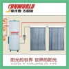 Domestic 2 copper coils high pressure Split Solar Water Heater