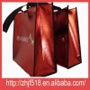 Red laminating pp non woven fabric shopping bag