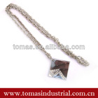 Customized popular stainless steel necklace chain wth pendant