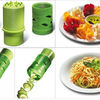 fruit and vegetable processing device/cucumber double planer spiral slicer cutter Twister Easy Garnish Veggie Processing Device