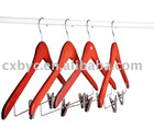Red wooden clothes hanger