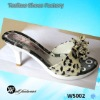 high heel leopard slipper