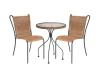 Durable leisure outdoor rattan coffee set, outdoor rattan furniture.
