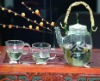 Glass kettle & cups