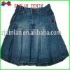 2012 new denim fashion pleated skirts