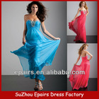 LND25 Beaded Long Chiffon Bule sequin gown sexy 2013 prom dress