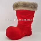 S130-1.5mm 2012 hot flocked boots for Christmas decoration