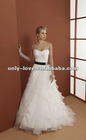 2013 fashion ivory strapless black belt bridal wedding dress OLW1473