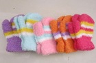 feather yarn gloves