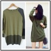 Geometric color matching restore ancient ways pullover knitting sweater