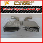 muffler tips 304 stainless steel Exhaust tubing for porsche cayenne 2011