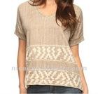 2012 fashion design short sleeve printing knitted T-shirts