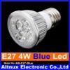E27 4W LED Energy Saving Blue Light Bright Bulb Lamp 110V-240V