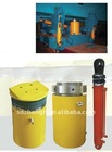 piston type hydraulic cylinder for road and bridge construction