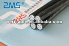 copper or aluminum conductor XLPE insulation aerial bundled cables