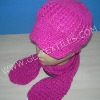 Fashionable Knitted Winter hat and scarf set